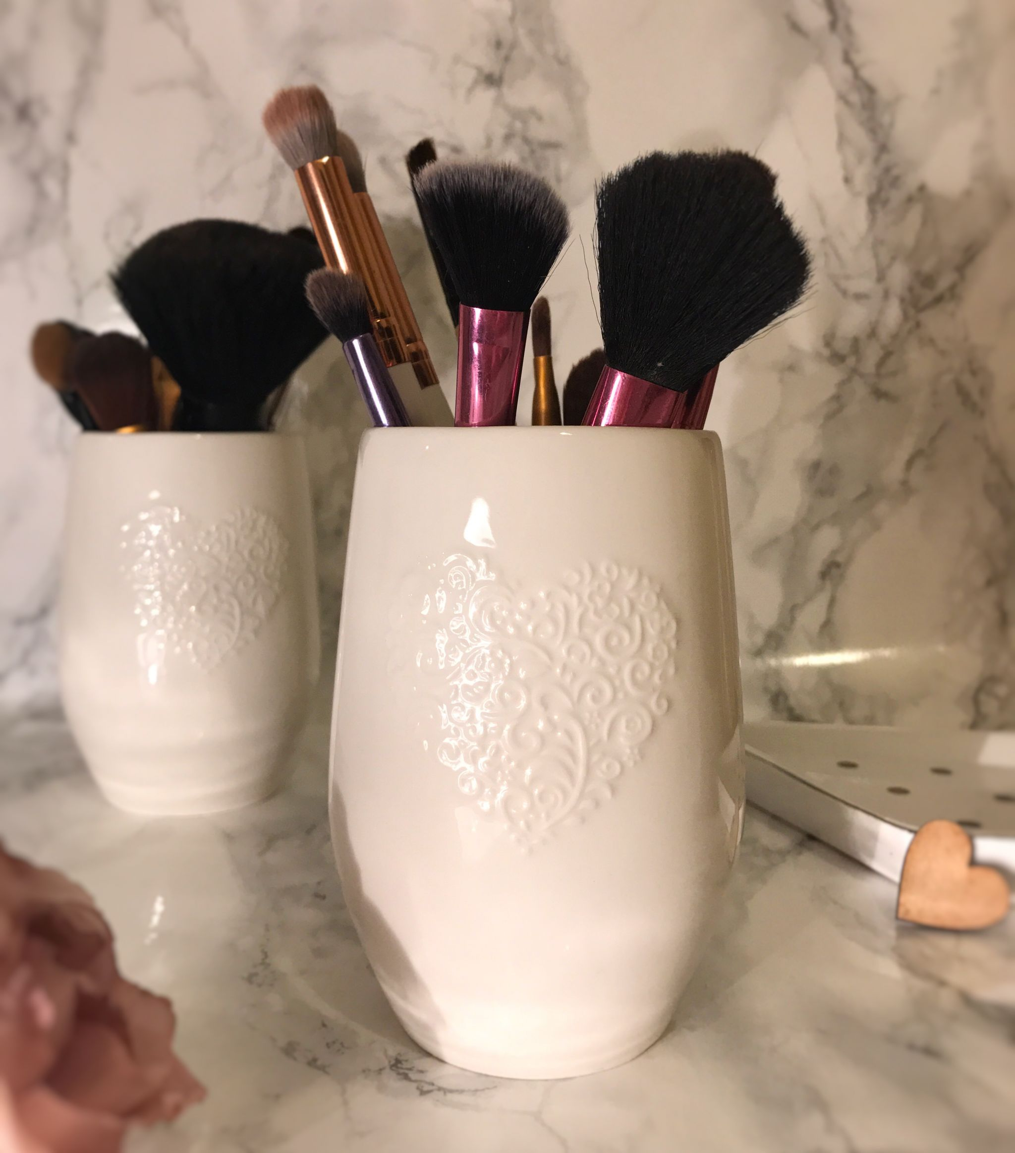 heart makeup brush holder saffy dixon