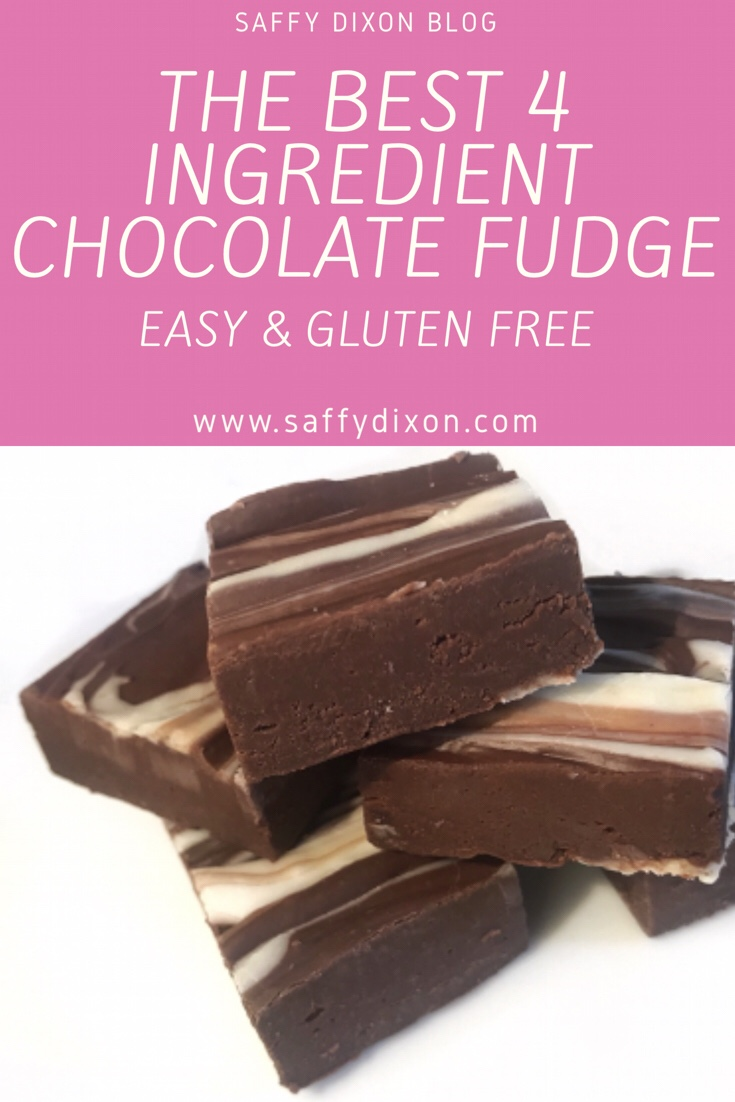The best 4 ingredient chocolate fudge - easy and gluten free recipe
