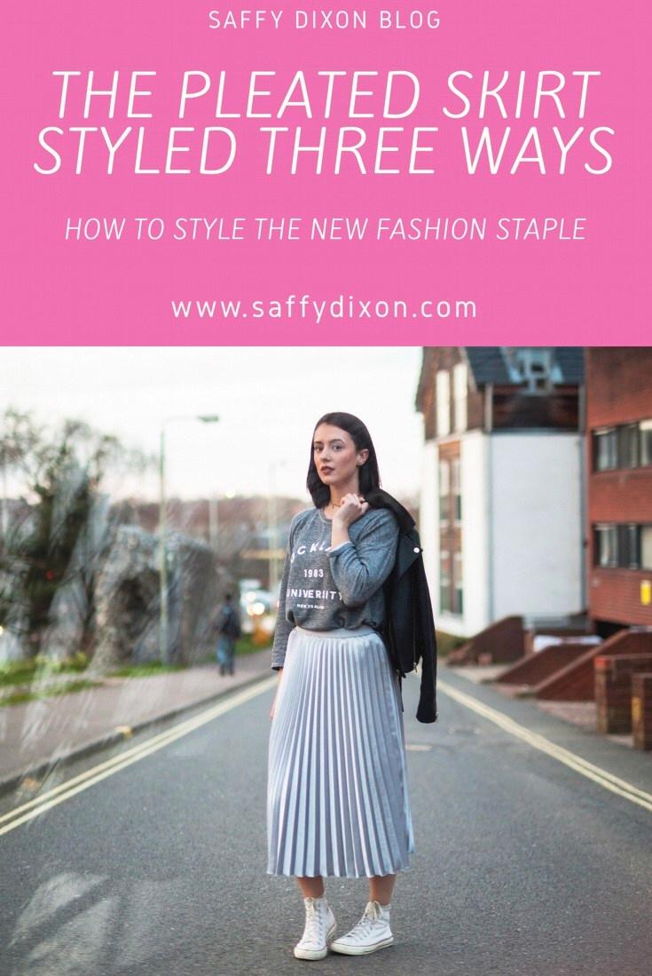 The pleated skirt styled three ways