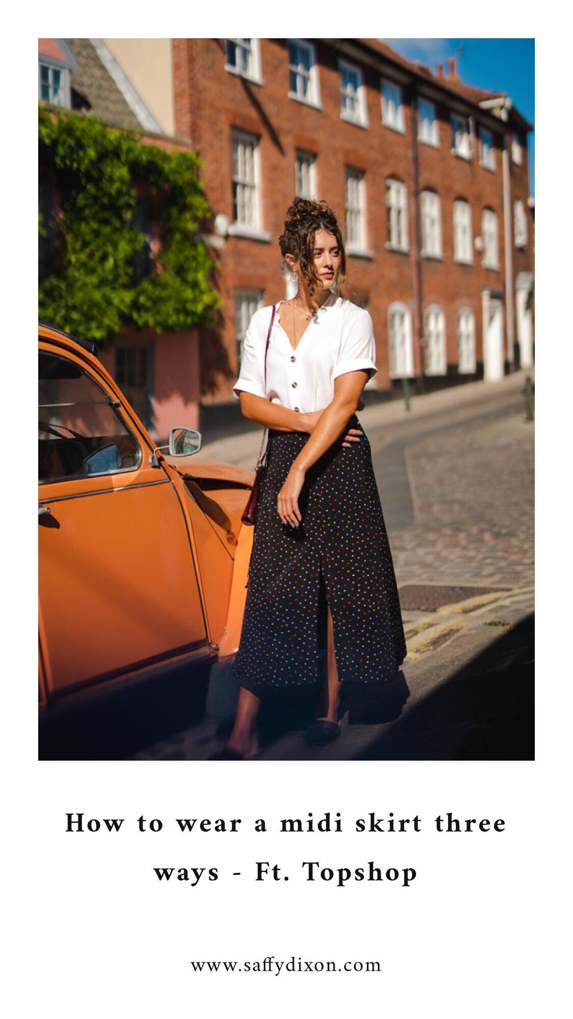 How to wear a midi skirt three ways